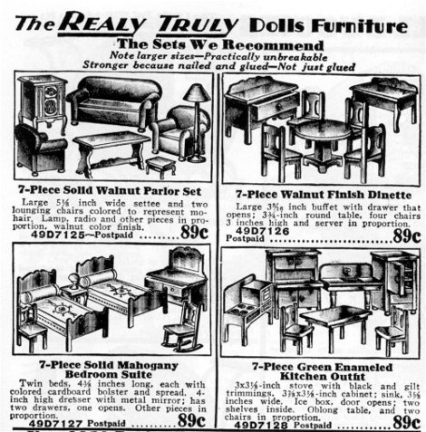 Miniature Doll House Strombecker Furniture Playthings Usa 1900 39 S Ebay