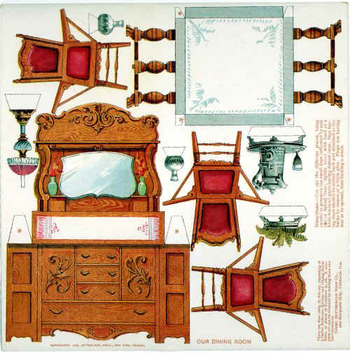 Instant Get Paper Dollhouse Furniture