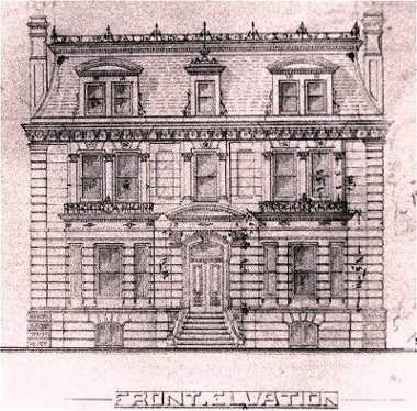 Architectural Drawing Of Kent House By Power C1877 Queens University Archives Kingston